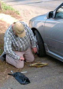 Aldgate flat tyre